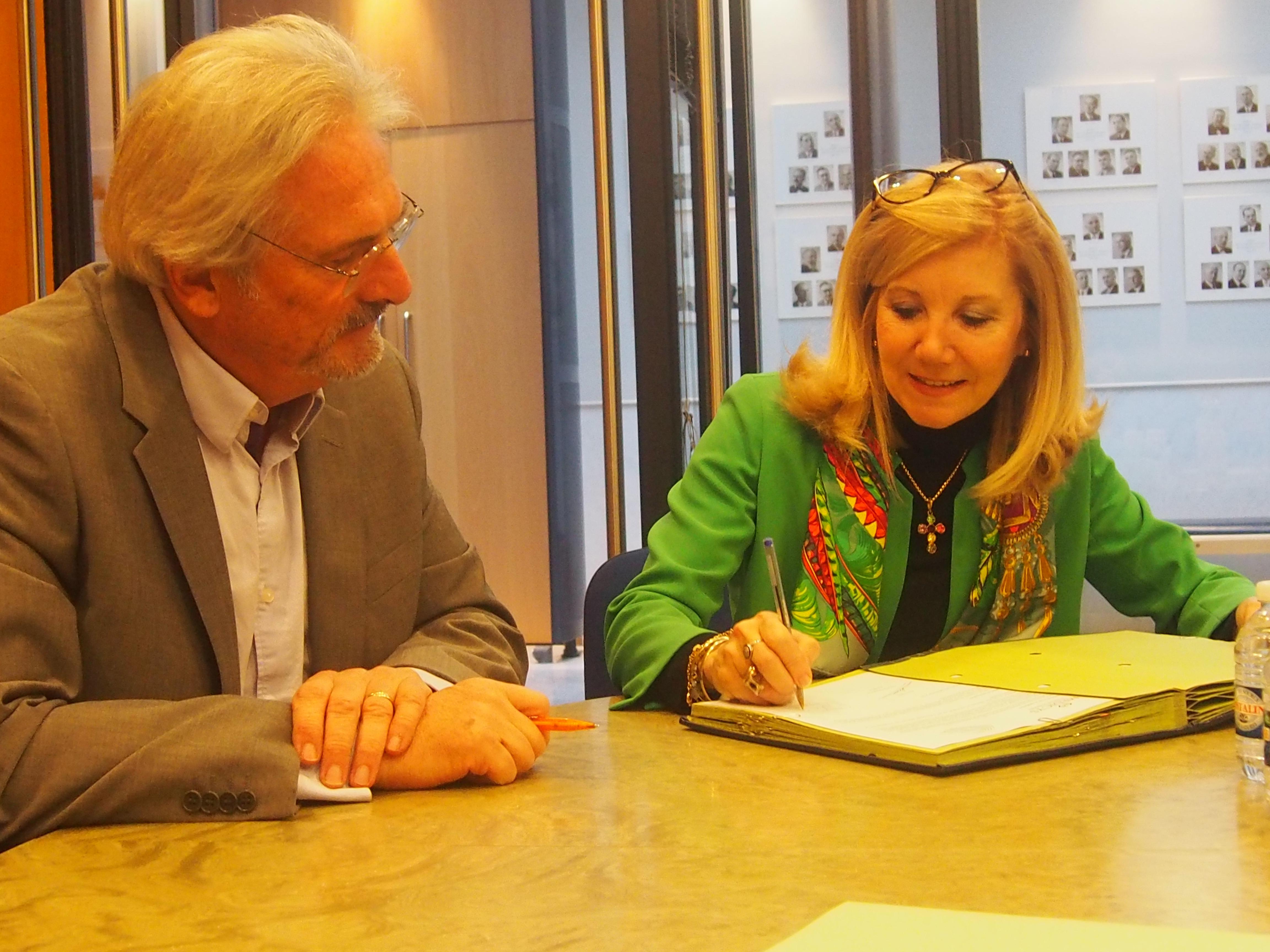 Christian Bouldoires (UBH) et Christine Valès (Medicys) pour la médiation